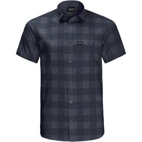 Jack Wolfskin Highlands SS Shirt Men, blauw